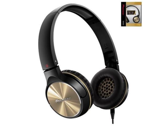 Pioneer SE-MJ542-N Headphones Dynamic Stereo Sound 40mm SEMJ542 Gold /GENUINE