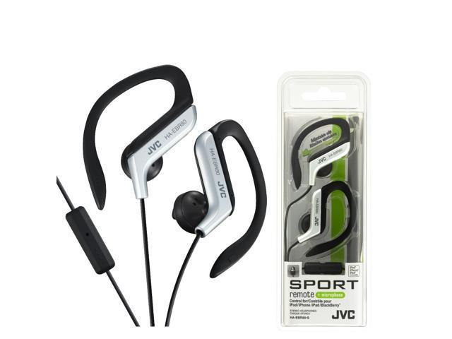 JVC HA-EBR80-S Athletic Sport Clip Style Earbud Headphones w HAEBR80 Silver