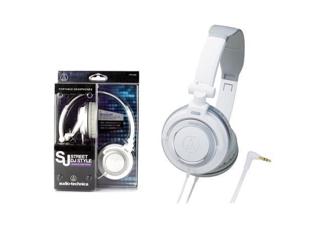 Audio Technica ATH-SJ55WH DJ Style Portable Headphones White ATHSJ55 /GENUINE