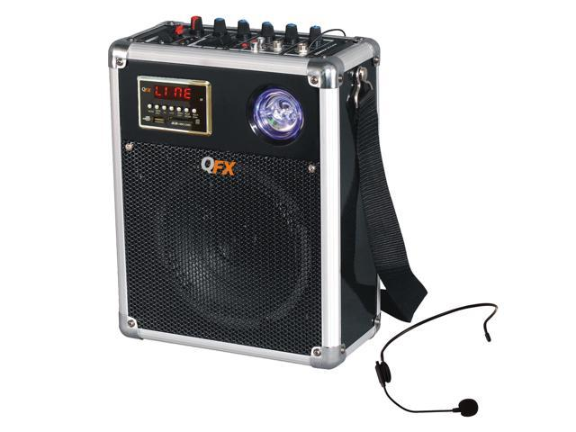 QFX Portable Battery Powered Bluetooth PA Speaker