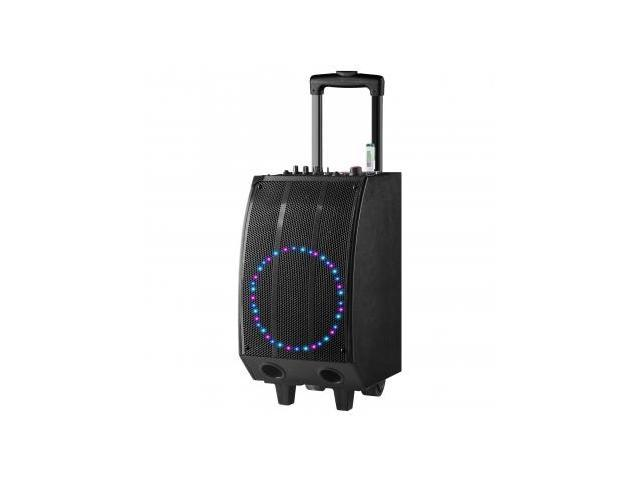 QFX Battery Powered Bluetooth PA Speaker- BLK