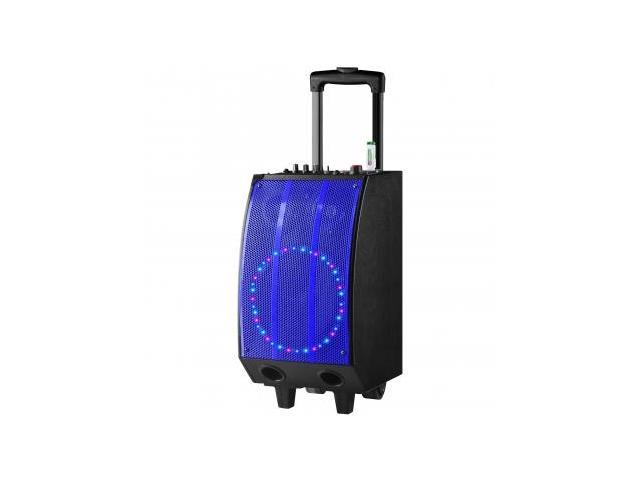 QFX Battery Powered Bluetooth PA Speaker- BLU