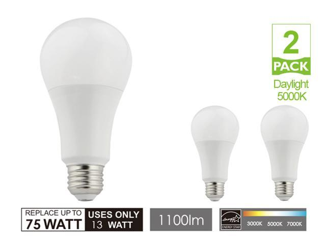 A21 Warm White Led light bulbs Dimmable 13W E26 AC100-120V 1100lm Super Bright 75 watt Replacement led lights for homes