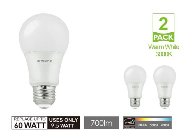 Warm White Led light bulbs Dimmable, A19 9.5W, E26 Base, 110-120V, 700lm Super Brightness, 60W Replacement, 3000K Warm led bulbs for home