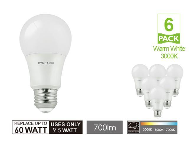 6pcs/lot 9.5W A19 Led light bulbs Dimmable, 3000K Warm White, E26 Base, 120V, 60W Replacement, Low cost and Energy Saving for Home, UL listed