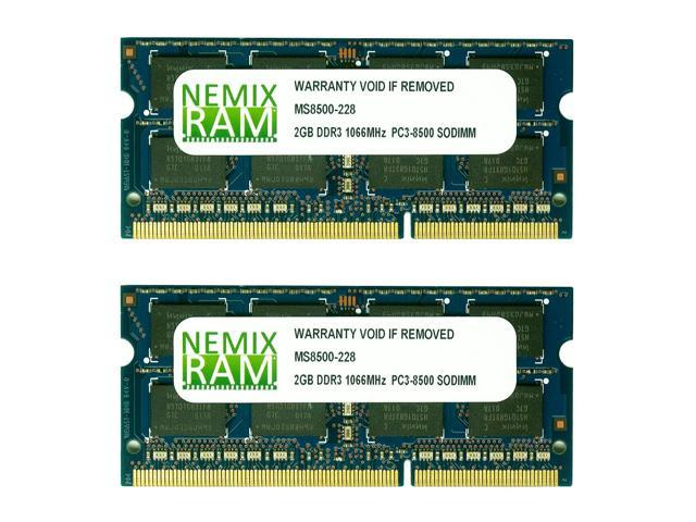 NEMIX RAM 4GB (2 X 2GB) DDR3 1066MHz PC3-8500 SODIMM Memory for Apple iMac 2009 9,1