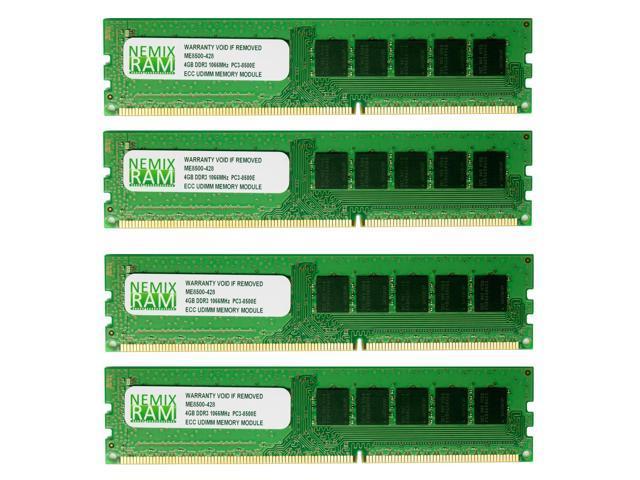 NEMIX RAM 16GB (4X4GB) DDR3 1066MHz PC3-8500 ECC Memory for APPLE Mac Pro 2009 4,1