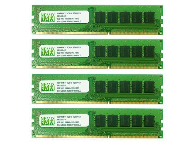 NEMIX RAM 32GB (4X8GB) DDR3 1066MHz PC3-8500 ECC Memory for APPLE Mac Pro 2009 4,1