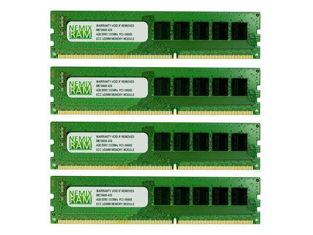 NEMIX RAM 16GB (4X4GB) DDR3 1333MHz PC3-10600 ECC Memory for APPLE Mac Pro 2010 2012 5,1