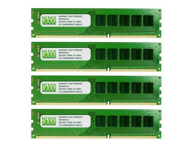 NEMIX RAM 32GB (4X8GB) DDR3 1333MHz PC3-10600 ECC Memory for APPLE Mac Pro 2010 2012 5,1