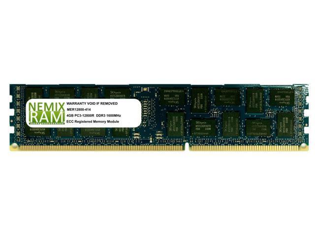 NEMIX RAM 4GB DDR3-1600MHz PC3-12800 240-pin 1.5V 1Rx4 ECC Registered Server Memory Module