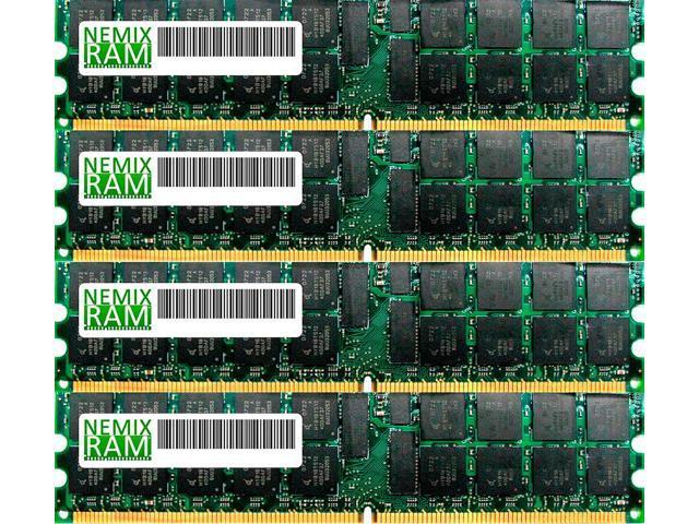 NEMIX RAM 32GB (4 x 8GB) DDR3-1600MHz PC3-12800 240-pin 1.35V 1Rx4 ECC Registered Server Memory Module