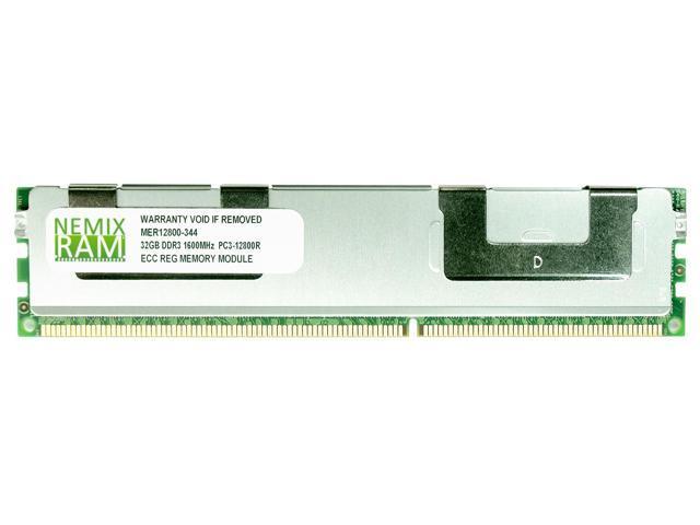 NEMIX RAM 32GB DDR3-1600MHz PC3-12800 240-pin 1.5V 4Rx4 ECC Registered Server Memory Module