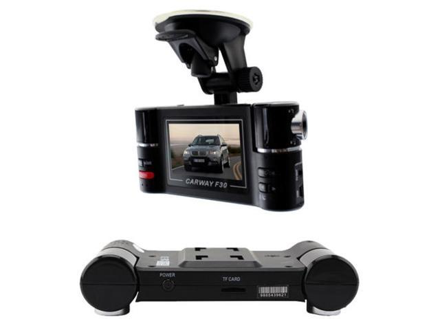 HD 2.7 inch Dual Lens Car Camera Vehicle DVR Video Recorder Parking Cam with SOS -Night Vision