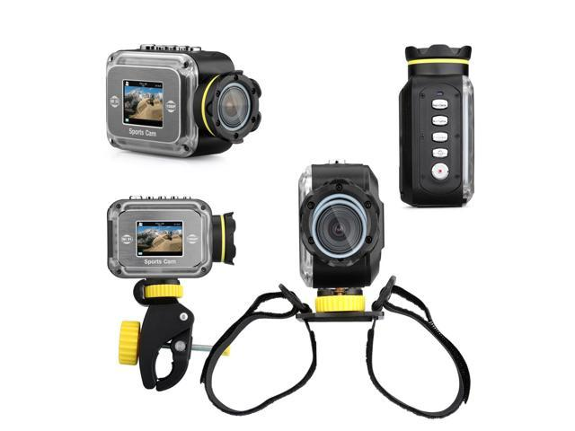 AXCELLE W1000 Sport Cam 1080P Full HD 12MP Diving Bicycle Action Camera?Helmet Camcorder - SHIP FROM US