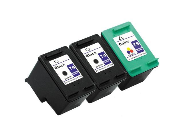 SL 3 pk HP 74 75 Ink Cartridges HP74 HP75 CB335WN CB337WN