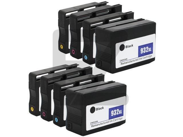 SL 8 PK HP 932XL 933XL Black & Color Ink Cartridges CN056AN CN055AN CN054AN CN053AN