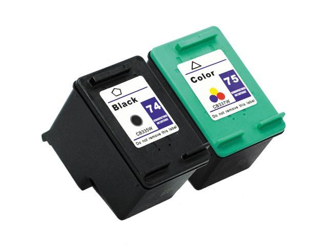 SL 2 pk HP 74 75 Ink Cartridges HP74 HP75 CB335WN CB337WN