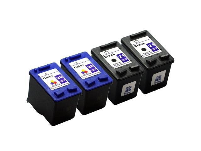 SL 4 pk HP 21 22 Ink Cartridges HP21 HP22 C9351AN C9352AN