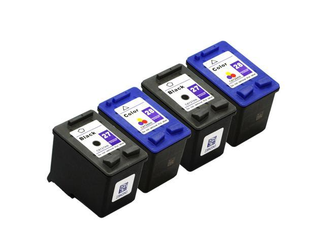 SL 4 pk HP 27 28 Ink Cartridges HP27 HP28 C8727AN C8728AN