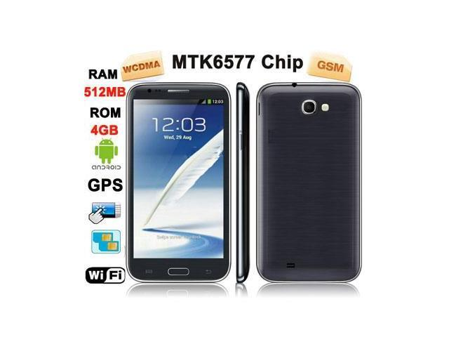 S7100 Gray, GPS + AGPS, Android 4.1.1 Version, RAM: 512MB, ROM: 4GB, CPU Chip: MTK6577 1.2GHZ Dual Core, 5.5 inch Capacitive Touch Screen Mobile ...
