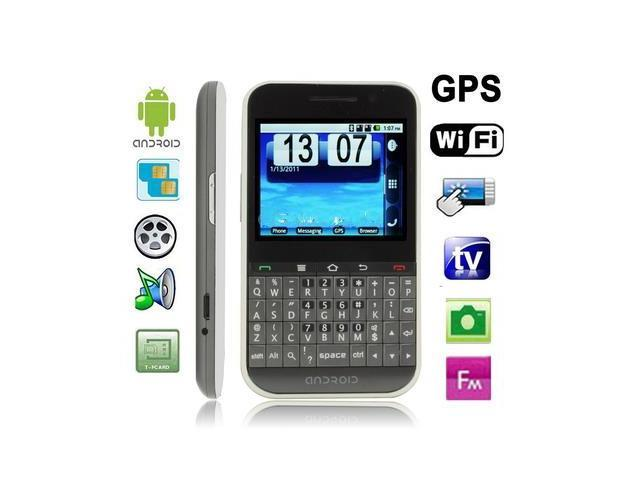 F605 Grey, GPS + Android 2.2 Version, QWERTY Keyboard, Analog TV (SECAM/PAL/NTSC), Wifi Bluetooth FM function Touch Screen Mobile Phone, Dual Sim ...