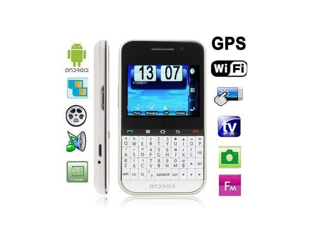 F605 White, GPS + Android 2.2 Version, QWERTY Keyboard, Analog TV (SECAM/PAL/NTSC), Wifi Bluetooth FM function Touch Screen Mobile Phone, Dual ...