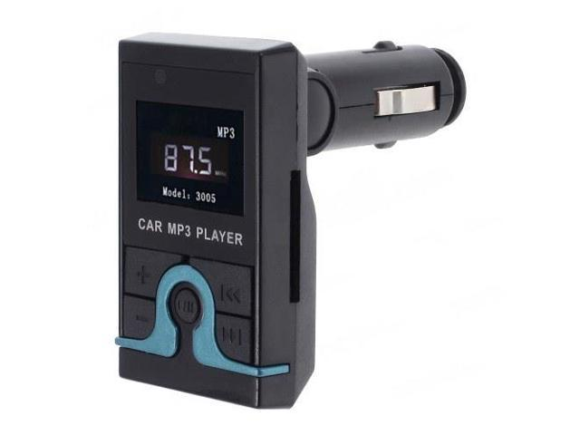1.44-inch LCD Car MP3 MP4 Player FM Transmitter W/ Remote Control - Black