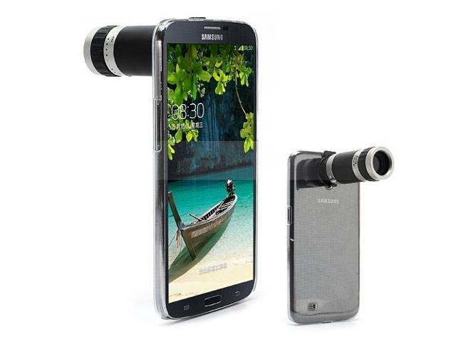 8X Zoom Mobile Phone Telescope Camera Lens w/ Crystal Case for Samsung Galaxy Mega 6.3 I9200