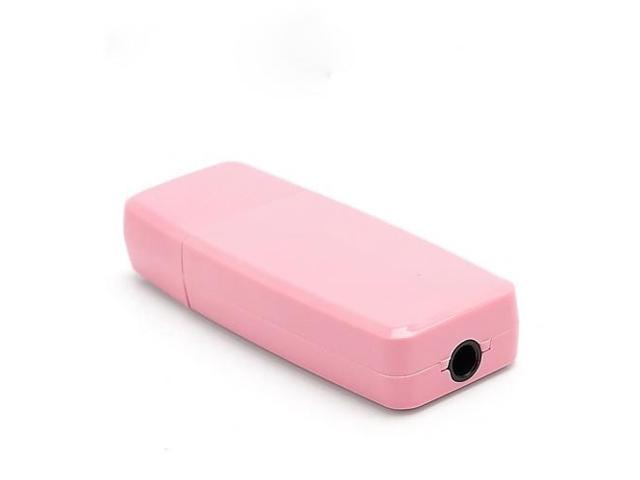 Hot 3.5mm USB Wireless Bluetooth Stereo Music Receiver for iPhone iPad PC Speaker - Pink
