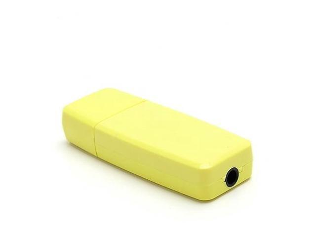 Hot 3.5mm USB Wireless Bluetooth Stereo Music Receiver for iPhone iPad PC Speaker - Yellow