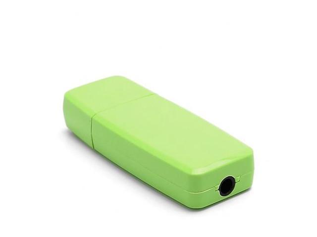Hot 3.5mm USB Wireless Bluetooth Stereo Music Receiver for iPhone iPad PC Speaker - Green