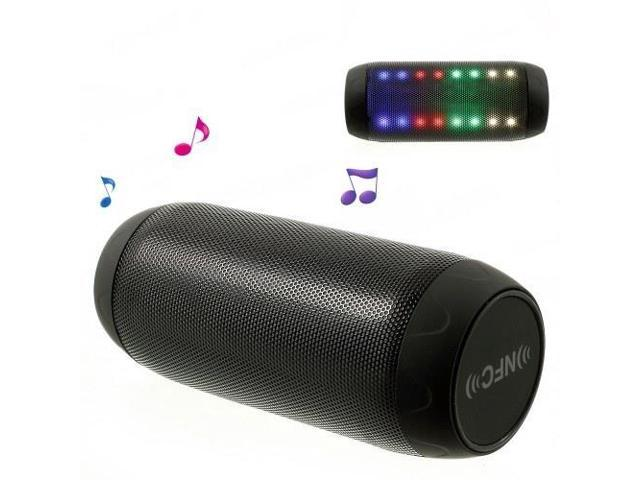 Q6 Dazzle Color Handsfree NFC Bluetooth Speaker, Support FM Radio / AUX / TF Card - Black