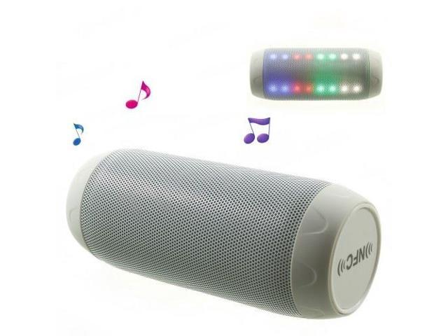Q6 Dazzle Color Handsfree NFC Bluetooth Speaker, Support FM Radio / AUX / TF Card - White