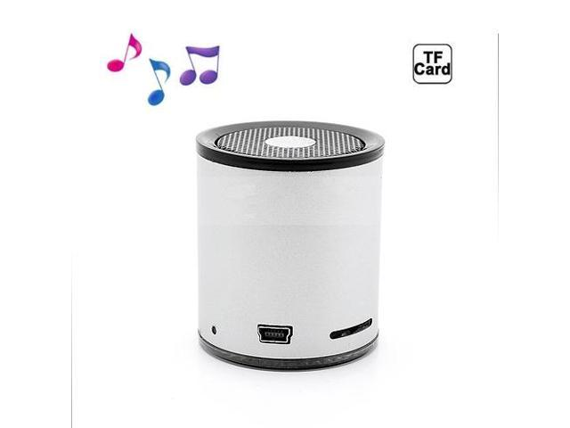 Portable Mini Wireless Bluetooth Stereo Speaker for iPhone Samsung HTC LG - Silver