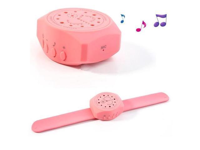 Portable Handfree Wrist Watch Bluetooth Speaker for iPhone iPad Samsung Sony LG Etc - Pink
