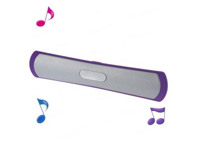 MS-1314 Wireless Bluetooth Stereo Speaker w/ Microphone for iPhone Samsung HTC - Purple