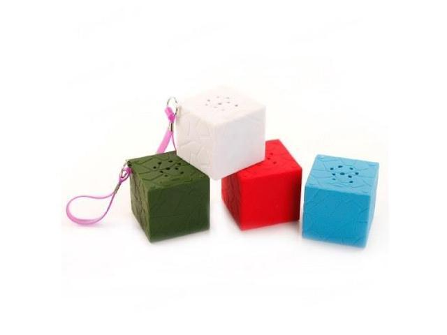 MY VISION T9 Outdoor Waterproof Cube Bluetooth Speaker with Strap - White