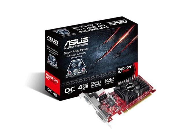 ASUS R7240-OC-4GD3-L AMD Radeon R7 240 4GB graphics card