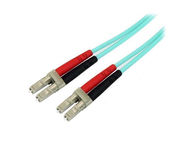 StarTech 2m 10 Gb Aqua Multimode 50/125 Duplex LSZH Fiber Patch Cable LC - LC