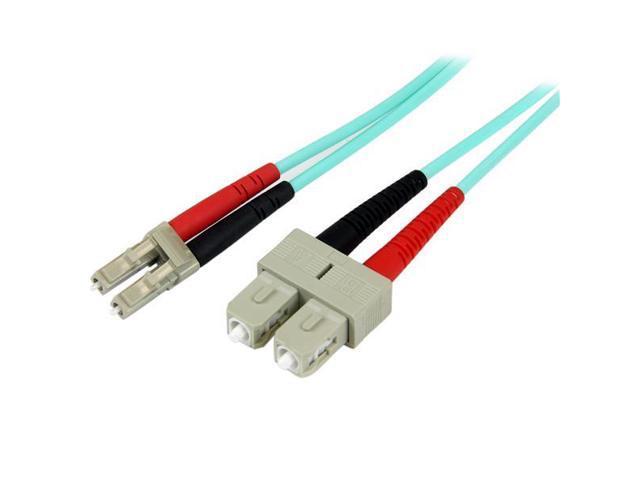 StarTech 2m 10 Gb Aqua Multimode 50/125 Duplex LSZH Fiber Patch Cable LC - SC