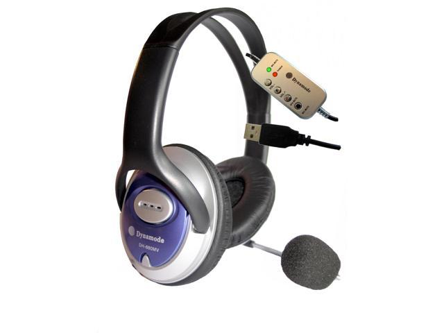 Dynamode Skype Stereo ClearSound headphone with Mic.