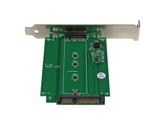 StarTech M.2 to SATA SSD adapter – expansion slot mounted