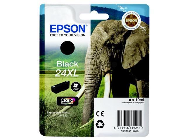 Epson C13T24314010 (24XL) Ink cartridge black, 500 pages, 10ml