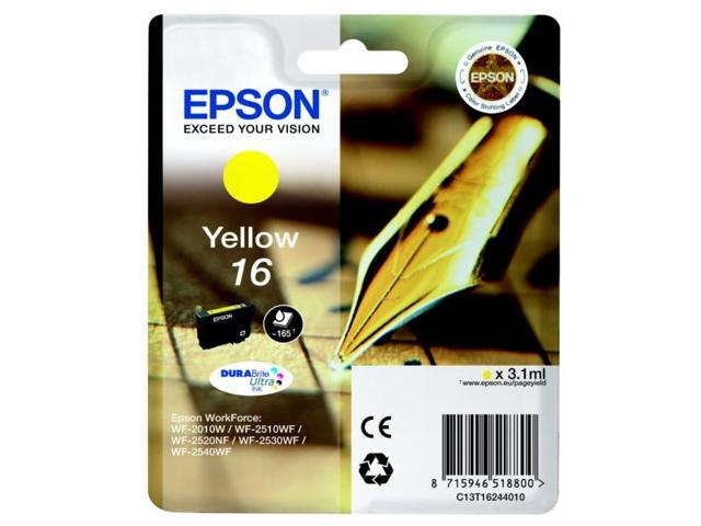 Epson C13T16244010 (16) Ink cartridge yellow, 165 pages, 3ml