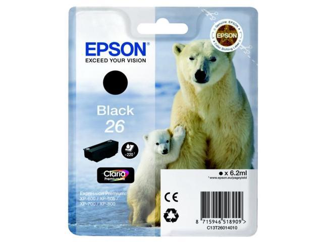 Epson C13T26014010 (26) Ink cartridge black, 220 pages, 6ml