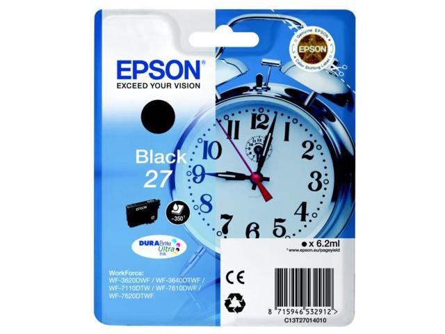 Epson C13T27014010 (27) Ink cartridge black, 350 pages, 6ml