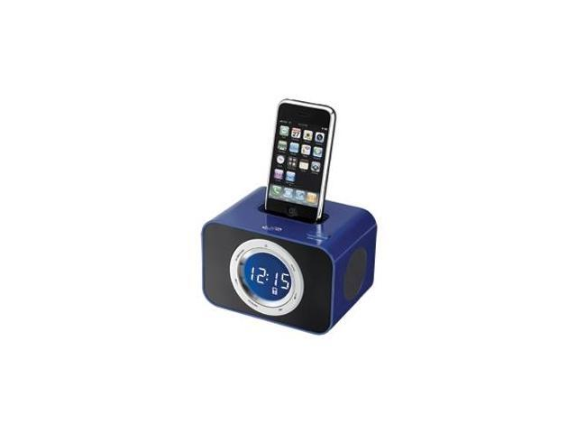 Ilive Icp211bu Clock Radio - 1 X Alarm - Ipod Dock, Iphone Dock