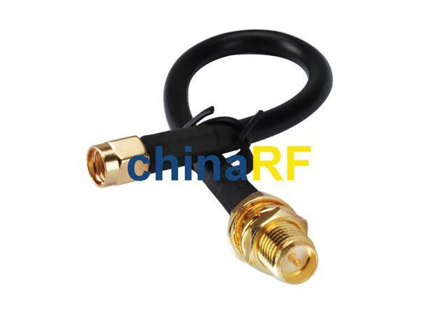 WiFi Antenna EXTENSION Cable/Lead Wireless RP SMA to SMA LMR/KSR195 1M