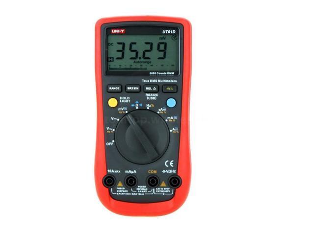 UNI-T UT61D Modern DMM Digital Multimeter Auto Range True RMS 6000 Counts RS-232